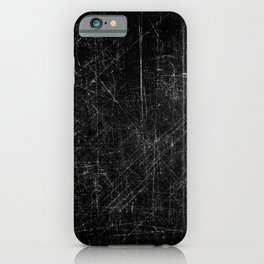 Black and white grungy scratches iPhone Case