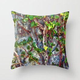 Climbing Vines - Nature's Art Work Throw Pillow
