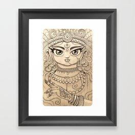 Kālī काली Framed Art Print