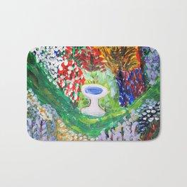 Birdbath in Lady Wisdom's Garden Bath Mat