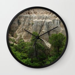 Badlands View From The Rim Road Wall Clock