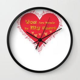 Valentine's Music To My Heart Wall Clock