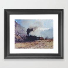 Mountain Train Framed Art Print
