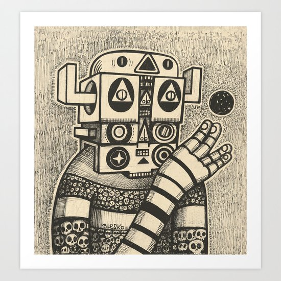 Dream of Blue Planet Art Print