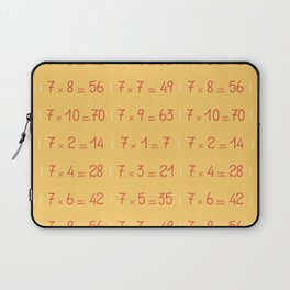 Seven Times Table Pattern Laptop Sleeve