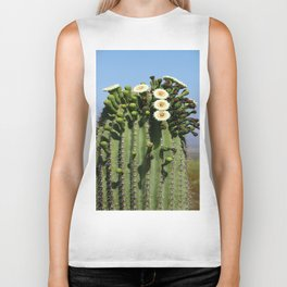 Beautiful Saguaro Blossoms Biker Tank