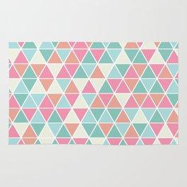 Triangulation (pink and green) Rug