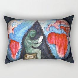 blood and suffer not me Rectangular Pillow