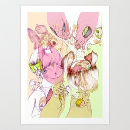 These Were Our Dialogs Of Sweet Surrender Art Print