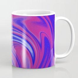 Blue & Pink Swirl Wave Coffee Mug