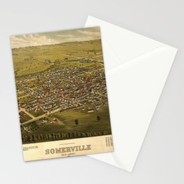 Aerial View of Somerville, New Jersey (1882) Stationery Cards
