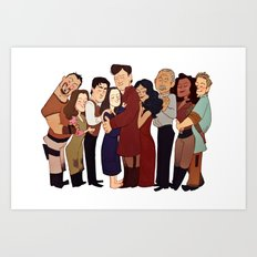 Firefly Crew Hug Art Print