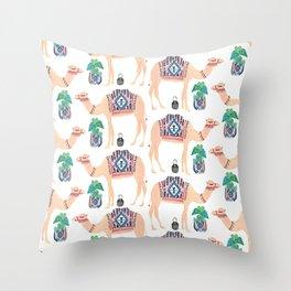 Bohemian Camel Throw Pillow
