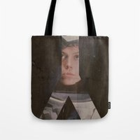 alien Tote Bags featuring Alien by JAGraphic