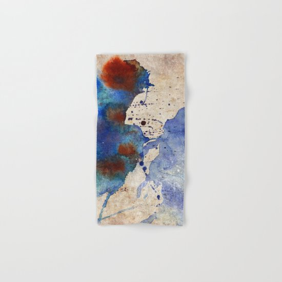 Blue Color Splash Hand & Bath Towel