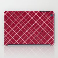 burgundy iPad Cases featuring Burgundy Pattern by Christina Rollo