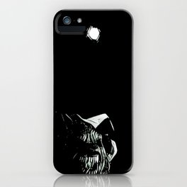 Full Moon Black and White iPhone Case