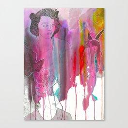 DRIPPING PETALS. Canvas Print