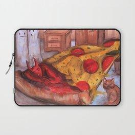 devil in pizza Laptop Sleeve