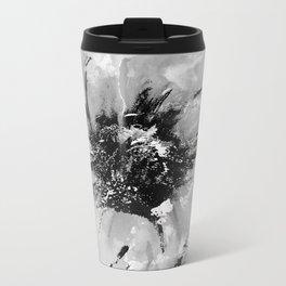 Graphic Poppy Metal Travel Mug