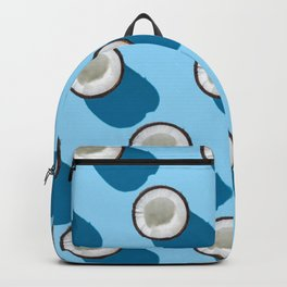 Kitschy Coconuts on Turquoise Backpack