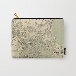 Vintage Winthrop, Chelsea, East Boston & Revere MA Map Carry-All Pouch