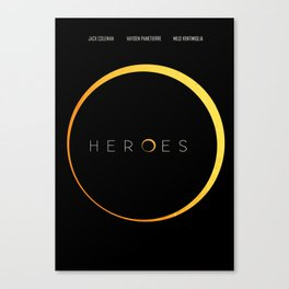 HEROES - MINIMAL Canvas Print