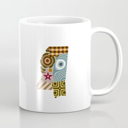 Mississippi State Map Coffee Mug