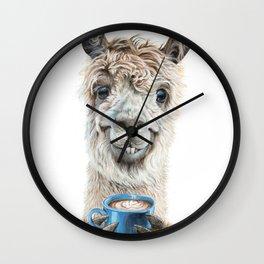 Llama Latte Wall Clock