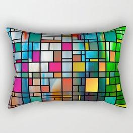 Abstract Modern Art Grid Pattern Rectangular Pillow