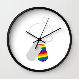 LGBT Rainbow Color Necklace Design Equality Gift Wall Clock
