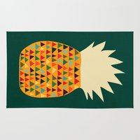 pineapple Area & Throw Rugs featuring Pineapple by Picomodi