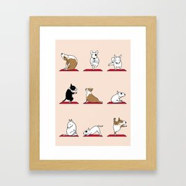 Bull Terrier Yoga Framed Art Print