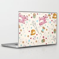 sewing Laptop & iPad Skins featuring Sewing by Epoque Graphics
