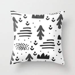 Sandinavian absract art Throw Pillow
