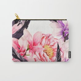 Floral Rise Carry-All Pouch