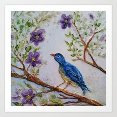 Bluebird of Happiness 2 Art Print