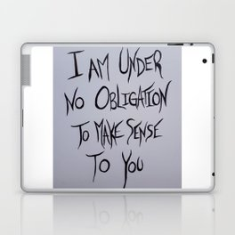 Mad Hatter Quote Laptop & iPad Skin