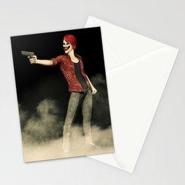 Killer Clown Pointing a Gun Artwork Stationery Cards