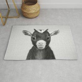 Baby Goat - Black & White Rug