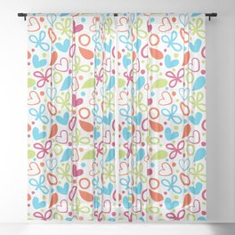 Colorful Lovely Pattern XVI Sheer Curtain