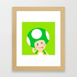 Green Toad Framed Art Print