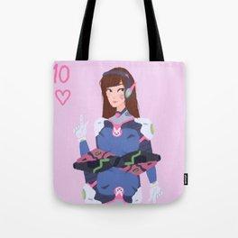 Ten of Hearts D.vA Redraw Tote Bag