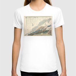 1854 Comparative Lengths of Rivers and Heights of Mountains T-shirt
