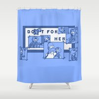 simpsons Shower Curtains featuring Do It For Her (Simpsons) by Manfred Maroto