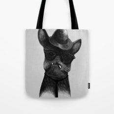 French Dog Blues Tote Bag