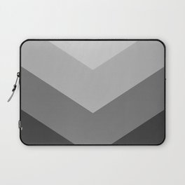 Gray Chevron Stripes Laptop Sleeve