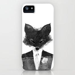 minima - dapper fox | noir iPhone Case