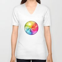 keep calm V-neck T-shirts featuring Keep Calm by Michael Flarup