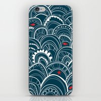 sailing iPhone & iPod Skins featuring sailing by Pardabon